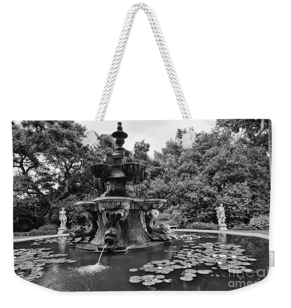 Mystery Fountain - Huntington Library And Botanical Gardens. Weekender Tote Bag
