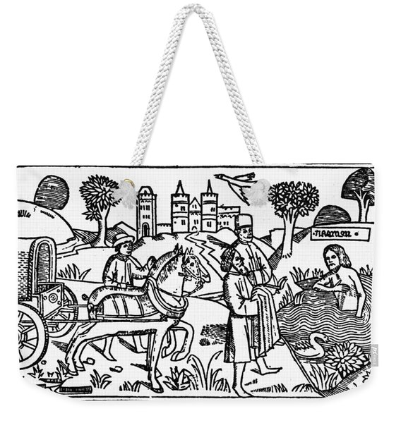 Naaman Bathing Weekender Tote Bag