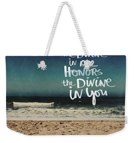 Namaste Waves  Weekender Tote Bag