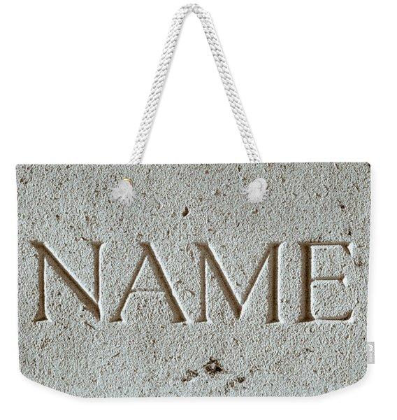 Name Weekender Tote Bag