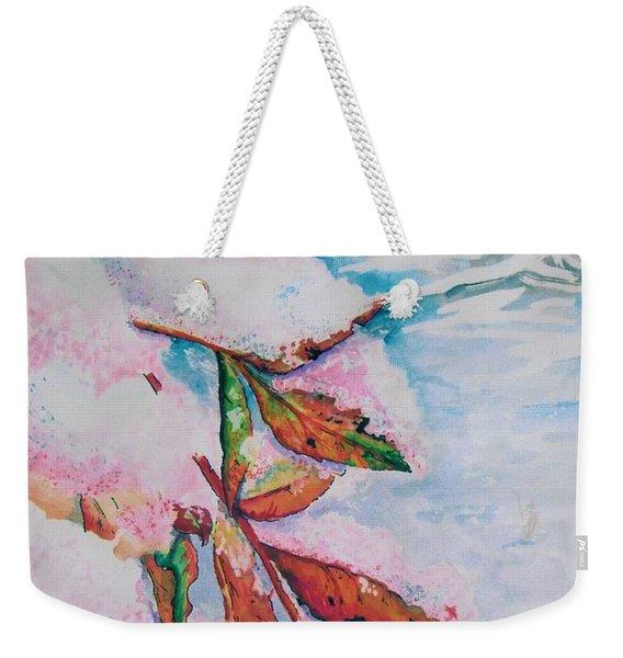 Nandina In Snow Weekender Tote Bag