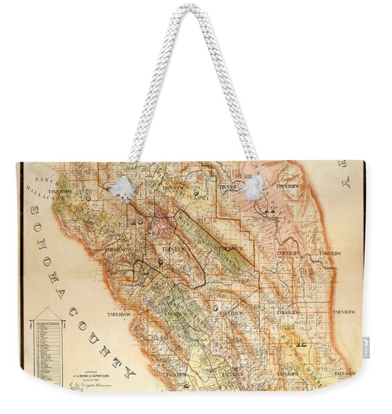 Napa Valley Map 1895 Weekender Tote Bag