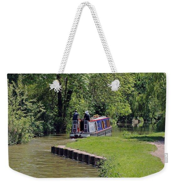 Narrowboat On Oxford Canal Weekender Tote Bag