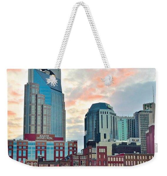 Nashville At Dusk Weekender Tote Bag