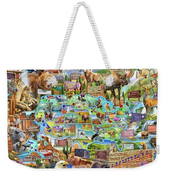 National Parks Of America Weekender Tote Bag