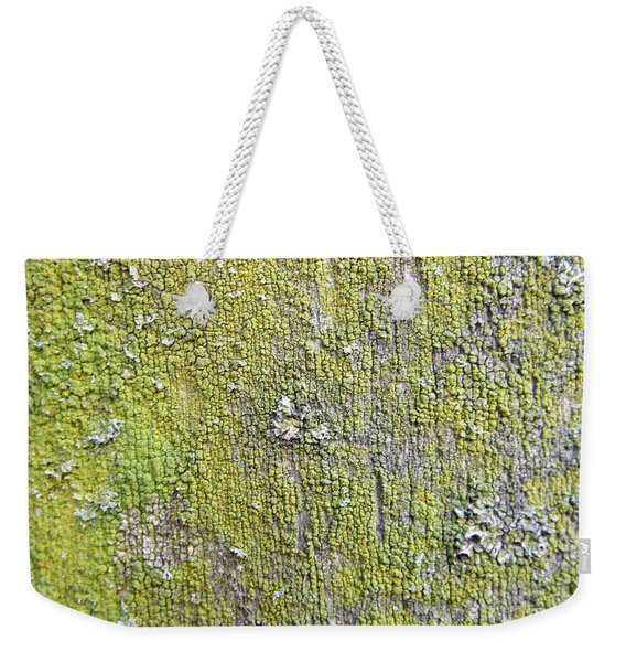 Natural Abstract 1 Old Fence With Moss Weekender Tote Bag