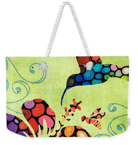 Nature's Harmony 2 - Hummingbird Art By Sharon Cummings Weekender Tote Bag
