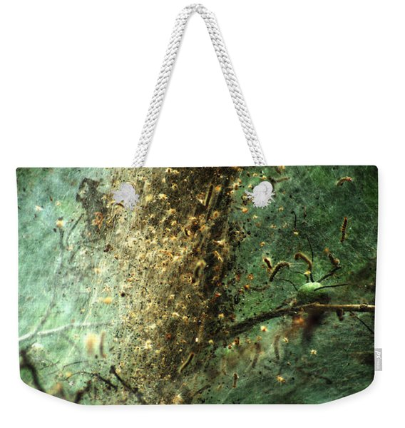 Natures Past Captured In A Web Weekender Tote Bag