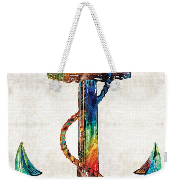 Nautical Anchor Art - Anchors Aweigh - By Sharon Cummings Weekender Tote Bag