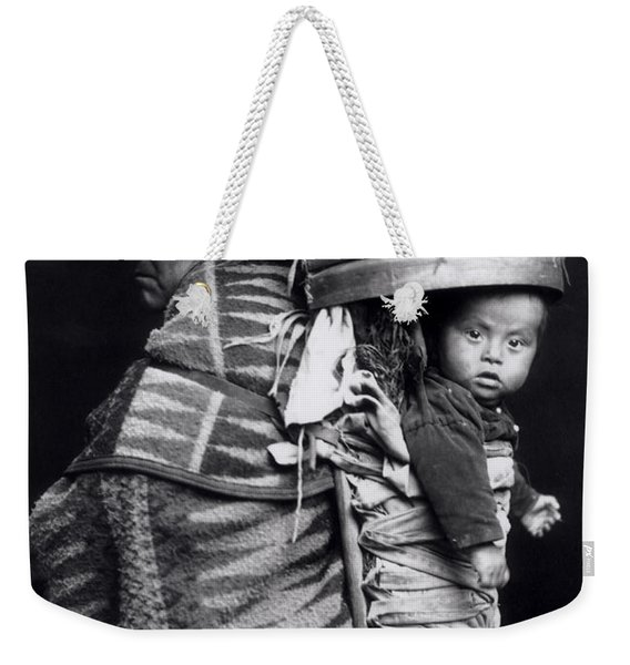 Navaho Woman Carrying A Papoose On Her Back Weekender Tote Bag