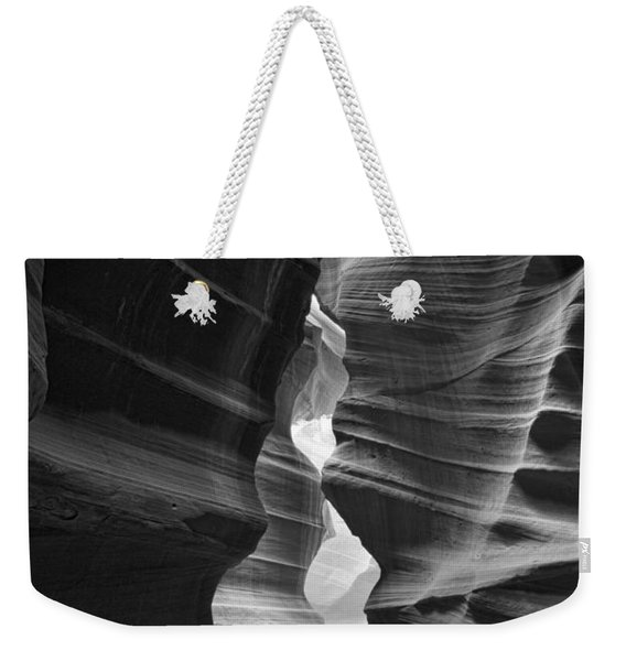 Antelope Canyon Black And White Weekender Tote Bag