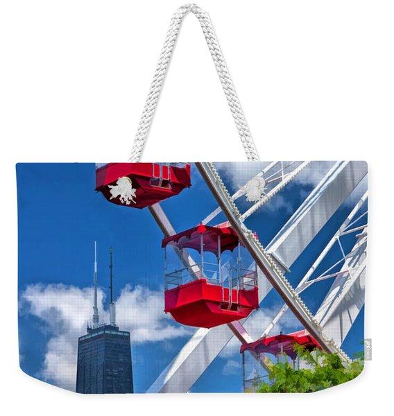 Chicago Navy Pier Ferris Wheel Weekender Tote Bag