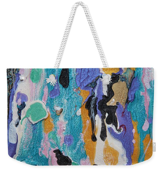 Near Sea Colorful Abstract Painting Weekender Tote Bag