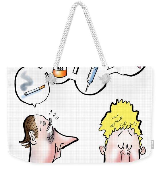 Nervous Dad Weekender Tote Bag