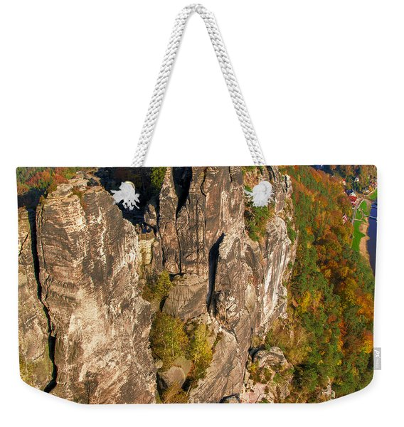 Neurathen Castle In The Saxon Switzerland Weekender Tote Bag