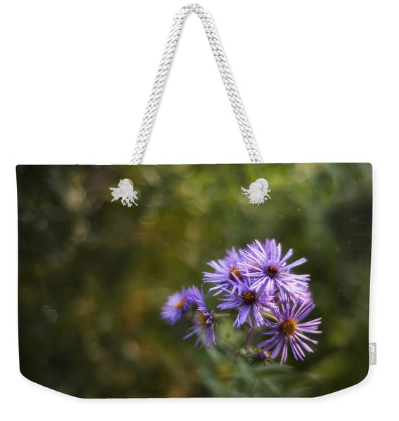 New England Asters Weekender Tote Bag