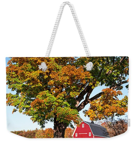 New England Farm Fall Foliage Weekender Tote Bag