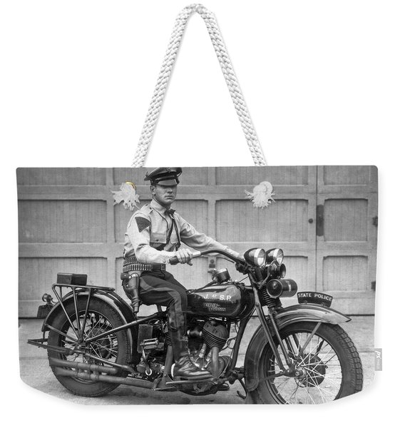 New Jersey Motorcycle Trooper Weekender Tote Bag