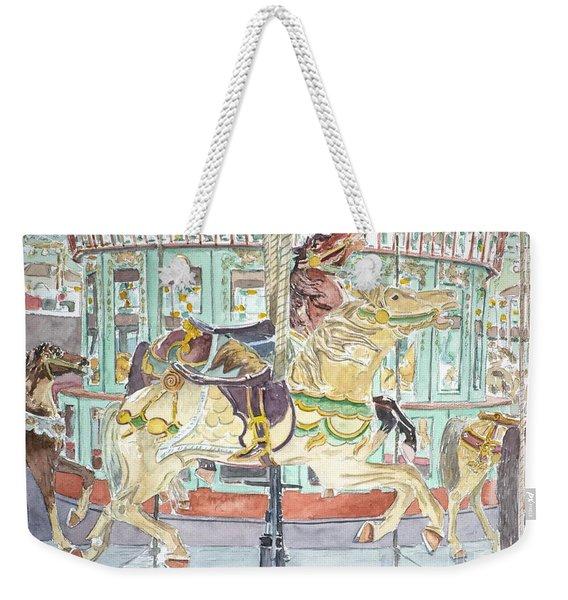 New Orleans Carousel Weekender Tote Bag