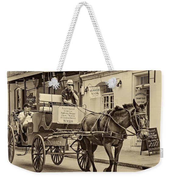 New Orleans - Carriage Ride Sepia Weekender Tote Bag