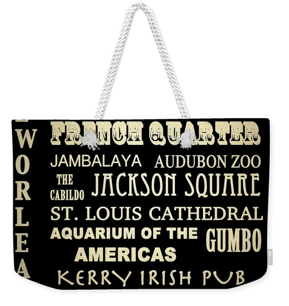 New Orleans Louisiana Famous Landmarks Weekender Tote Bag