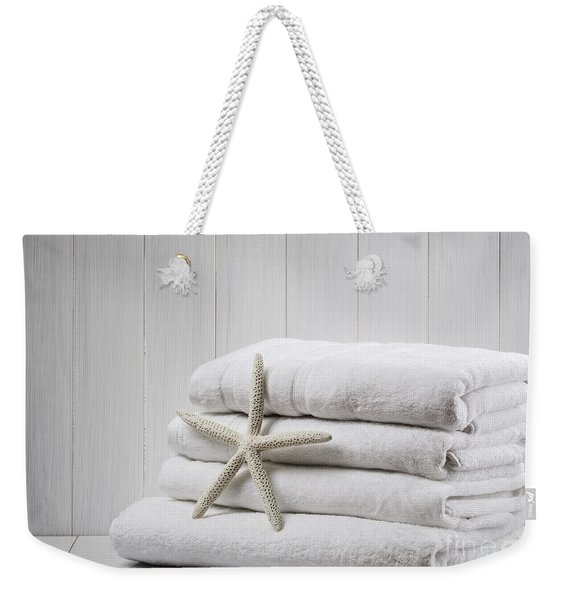 New White Towels Weekender Tote Bag