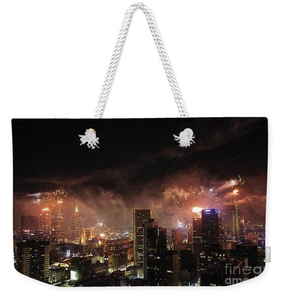 New Year Fireworks Weekender Tote Bag