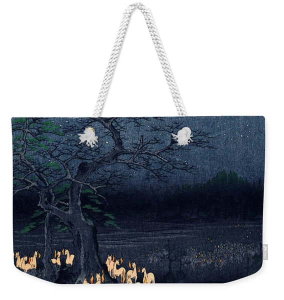 New Years Eve Foxfires At The Changing Tree Weekender Tote Bag