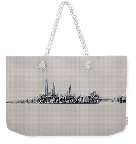 New York City 2013 Skyline 20x60 Weekender Tote Bag