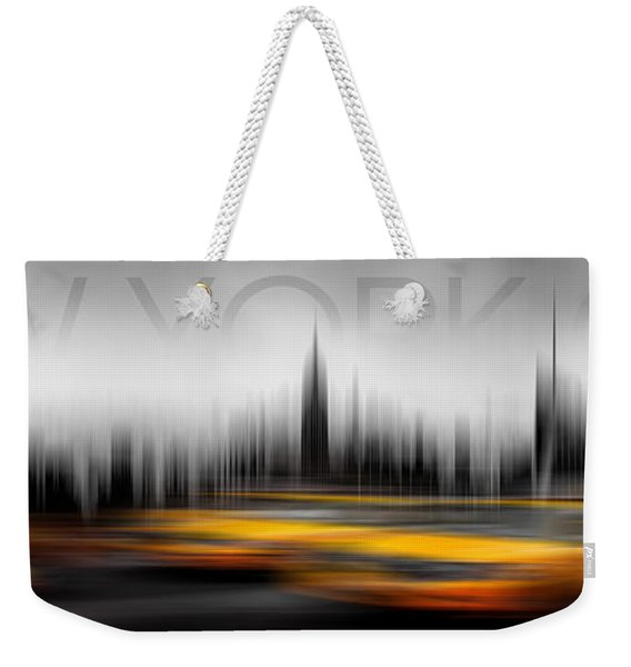 New York City Cabs Abstract Weekender Tote Bag