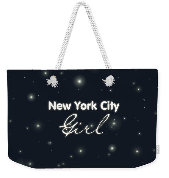 New York City Girl Weekender Tote Bag