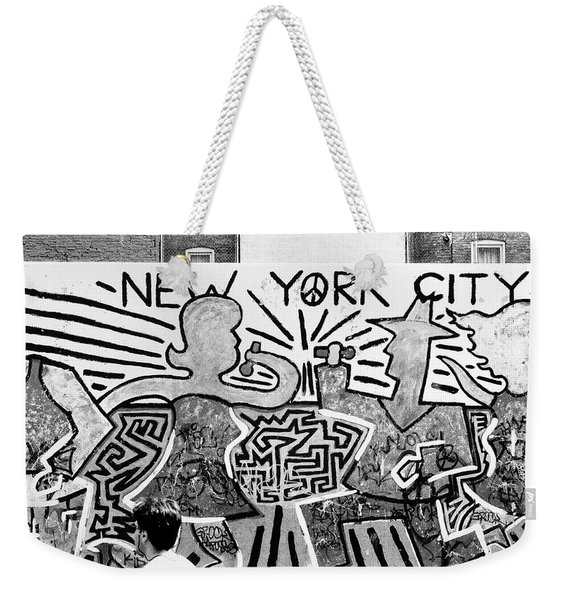 New York City Graffiti Weekender Tote Bag