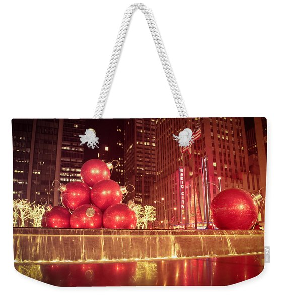 New York City Holiday Decorations Weekender Tote Bag