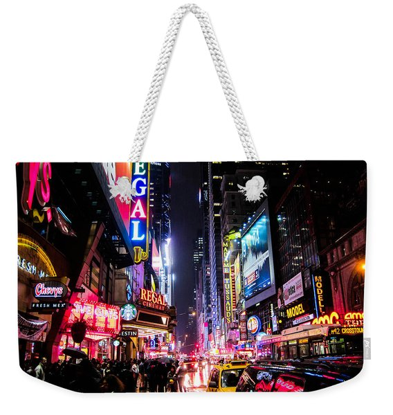 New York City Night Weekender Tote Bag