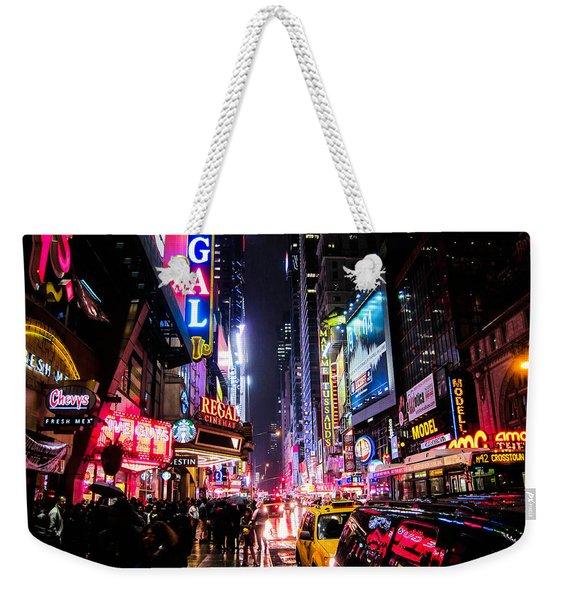 New York City Night Weekender Tote Bag