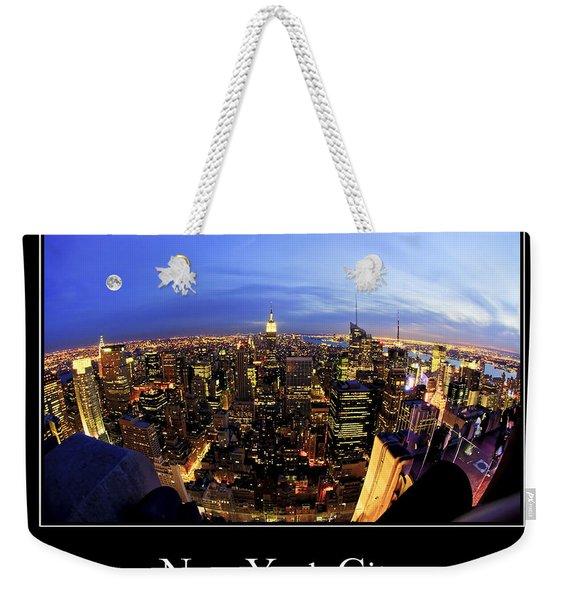 New York City Skyline Weekender Tote Bag