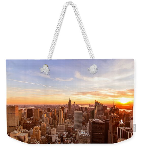 New York City - Sunset Skyline Weekender Tote Bag
