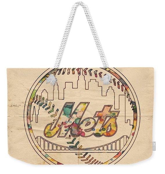 New York Mets Poster Vintage Weekender Tote Bag