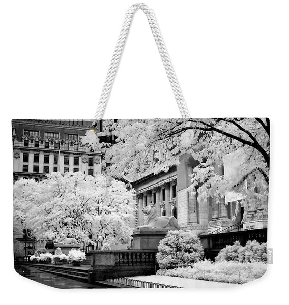 New York Public Library Ir Weekender Tote Bag