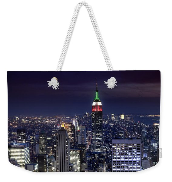 New York Skyline Night Color Weekender Tote Bag