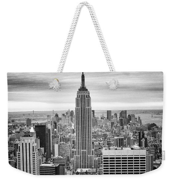 Black And White Photo Of New York Skyline Weekender Tote Bag