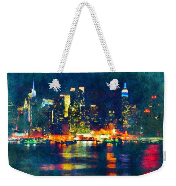 New York State Of Mind Abstract Realism Weekender Tote Bag