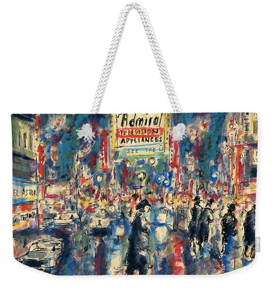 New York Times Square 79 - Watercolor Art Painting Weekender Tote Bag