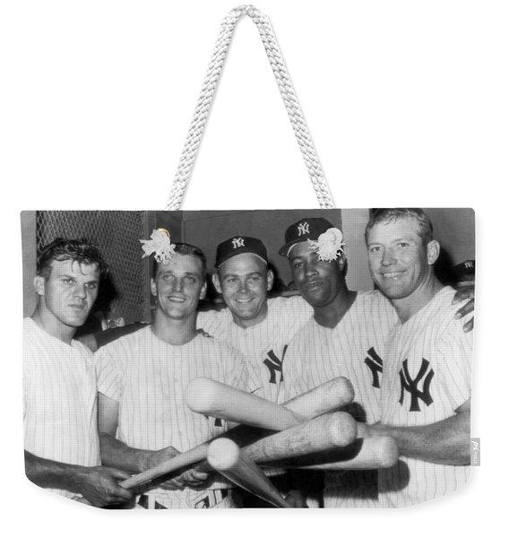New York Yankee Sluggers Weekender Tote Bag