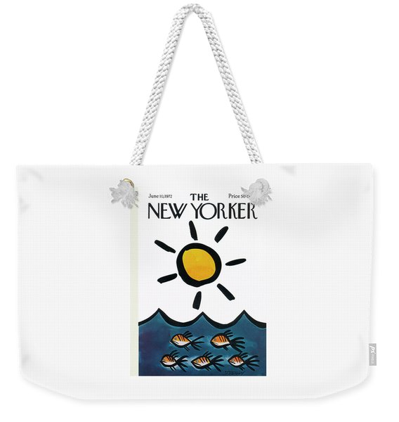 New Yorker June 10th, 1972 Weekender Tote Bag