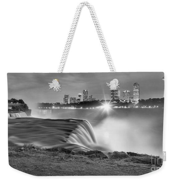 Niagara Falls Black And White Starbursts Weekender Tote Bag