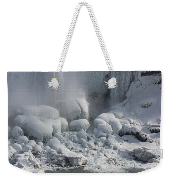 Niagara Falls Ice Buildup - American Falls New York State U S A Weekender Tote Bag