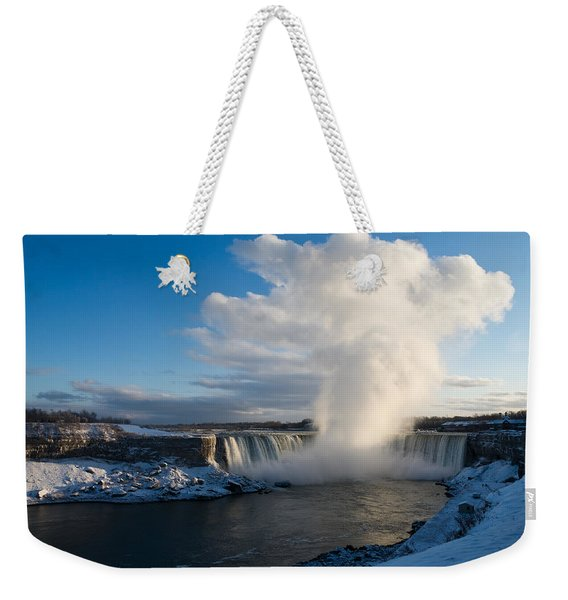 Niagara Falls Makes Its Own Weather Weekender Tote Bag