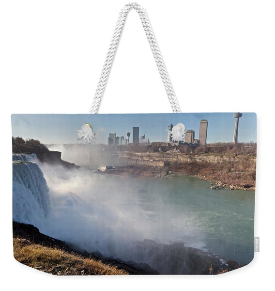 Weekender Tote Bag featuring the photograph Niagara Falls Panorama by William Norton