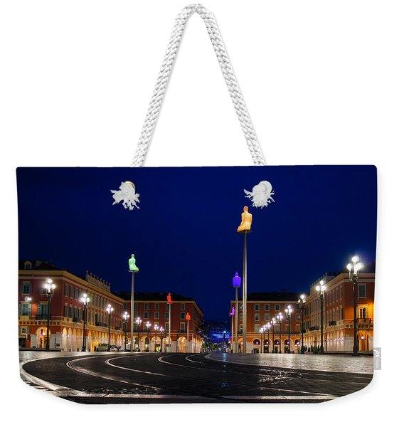 Nice France - Place Massena Blue Hour  Weekender Tote Bag